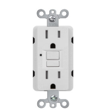 15A Self-Test Tamper Resistant Duplex GFCI Receptacle with LED Light