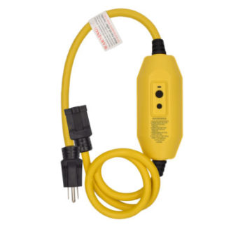 15 Amp 2ft 12-Guage 1 Outlet Auto Reset In line GFCI Plug Extension Cord