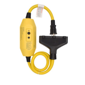 15 Amp 2ft 12-Guage 3 Outlets Auto Reset In line GFCI Plug Extension Cord