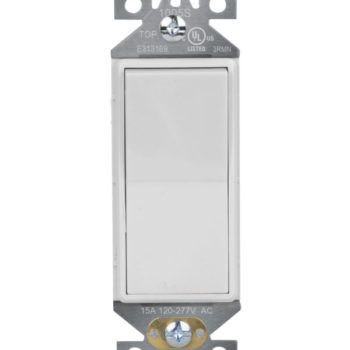 15 Amp Single Pole Decorator Residential Grade Wall Switch