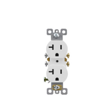 20 Amp Residential Grade Duplex Receptacle
