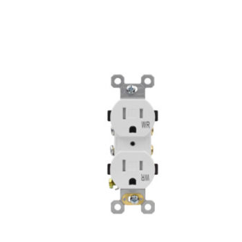 15 Amp Tamper Resistant & Weather Resistant Residential Grade Duplex Receptacle