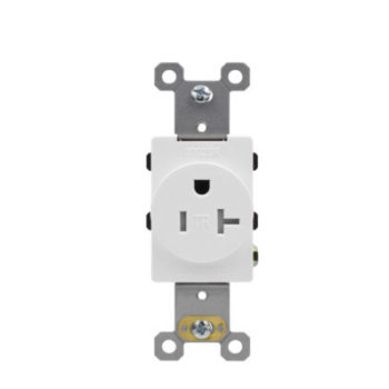 20 Amp Tamper Resistant Residential Grade Single Receptacle