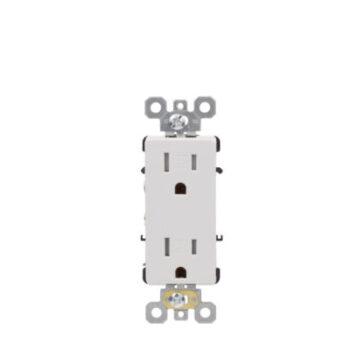 15 Amp Tamper Resistant Commercial Grade Decorative Duplex Receptacle