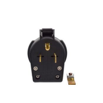 30 Amp/50 Amp 3 Prong  Angle  Plug  250V - Black