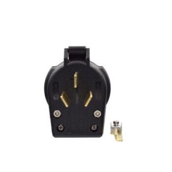 30/50 Amp 125/250 Volt 3-Prong Plug - Black