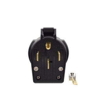 30/50 Amp 125/250 Volt 4-Prong Plug - Black