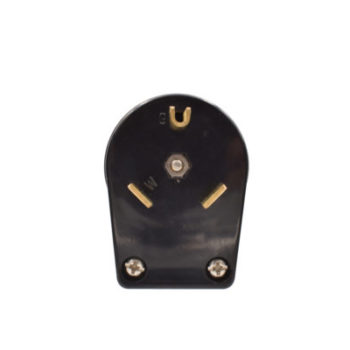 30 Amp, 125 Volt Travel Trailer Plug-Black