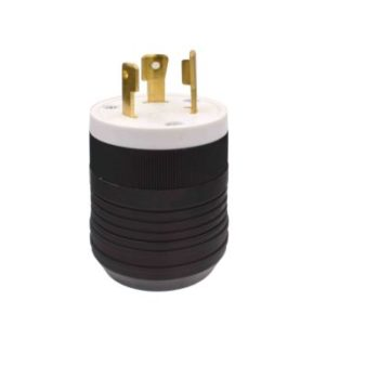 30 Amp, 250 Volt Locking Plug-Black