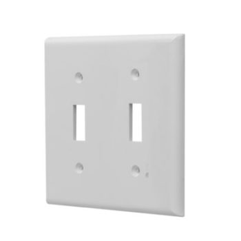 2 Gang Plastic Toggle Switch Wall Plate