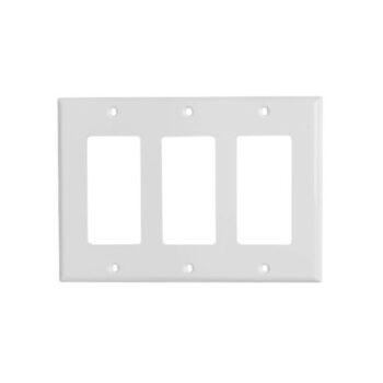 3 Gang STD Decorator Device Wall Plate-Urea