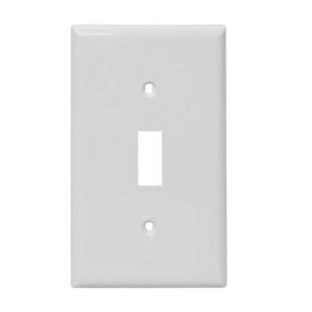 1 Gang Plastic Toggle Switch Wall Plate