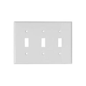 3 Gang STD Toggle Switch Wall Plate-Urea