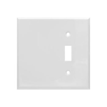 2 Gang STD Smooth Metal Toggle Switch & Blank  Wall Plate