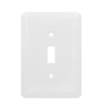 1 Gang MID Smooth Metal Toggle Switch Wall Plate