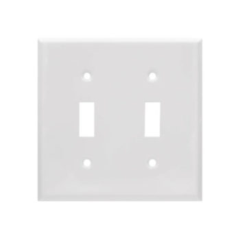 2 Gang STD Smooth Metal Toggle Switch Wall Plate