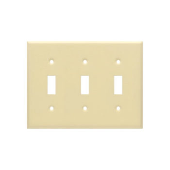 3 Gang STD Wrinkle Metal Toggle Switch Wall Plate