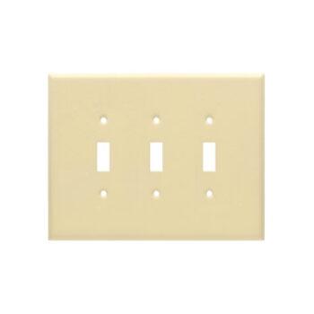 3 Gang Jumbo Wrinkle Metal Toggle Switch Wall Plate