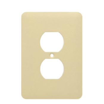 1 Gang MID Wrinkle Metal Duplex Receptacle Wall Plate