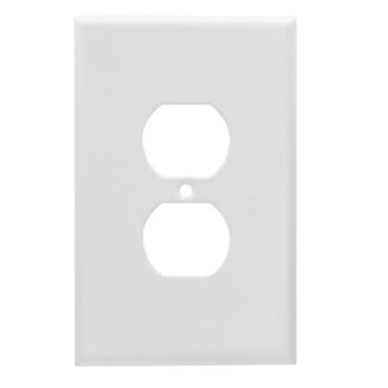 1-Gang Jumbo Smooth Metal Duplex Receptacle Wall Plate