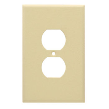 1 Gang Jumbo Wrinkle Metal Duplex Receptacle Wall Plate