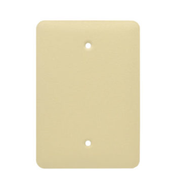 1 Gang MID Wrinkle Metal Blank Wall Plate