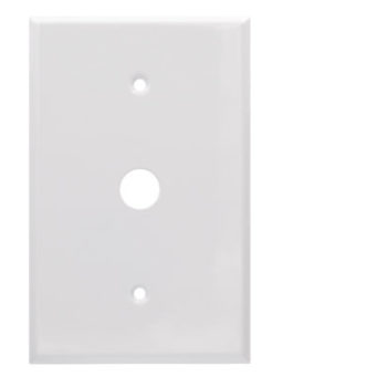 1 Gang Jumbo Smooth Metal Phone Wall Plate