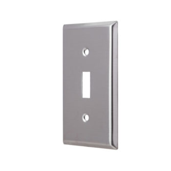 1-Gang Stainless Steel Toggle Switch Wall Plate