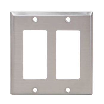 2 Gang  Stainless Steel Decorator devices Wall Plate