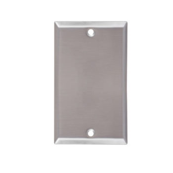 1 Gang Stainless Steel Blank Wall Plate