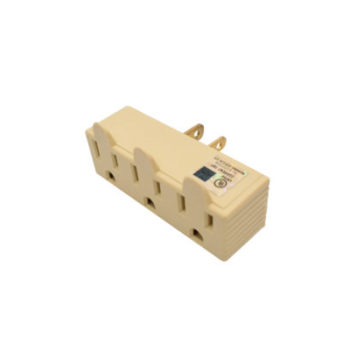 15A 3-Wire Single  to Triple Outlet Grounding Adapter-IV