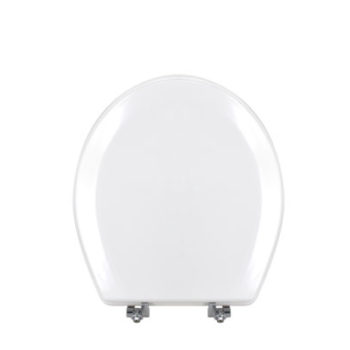 "17"" Bevel Molded MDF Toilet Seat with Metal Hinge"
