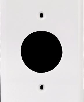 1-Gang Plastic Single Receptacle Wall Plate